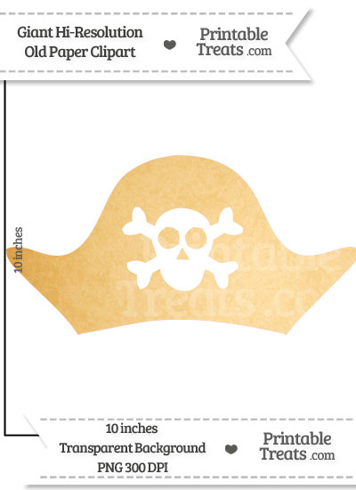 Old Paper Giant Pirate Hat Clipart from PrintableTreats.com
