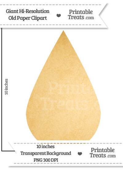 Old Paper Giant Raindrop Clipart from PrintableTreats.com