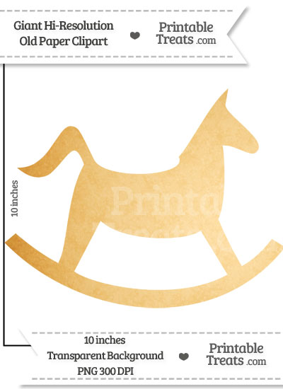 Old Paper Giant Rocking Horse Clipart from PrintableTreats.com