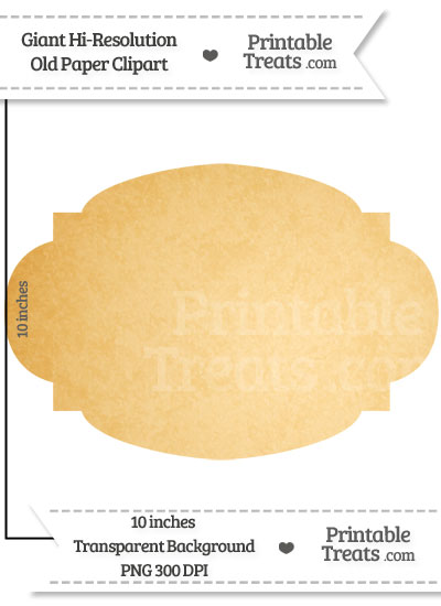 Old Paper Giant Rounded Label Clipart from PrintableTreats.com