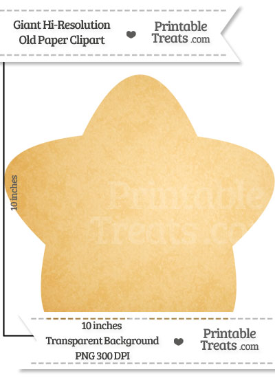 Old Paper Giant Rounded Star Clipart from PrintableTreats.com