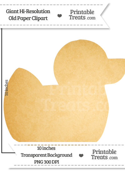 Old Paper Giant Rubber Ducky Clipart from PrintableTreats.com