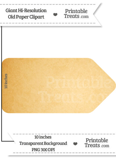 Old Paper Giant Sales Tag Clipart from PrintableTreats.com