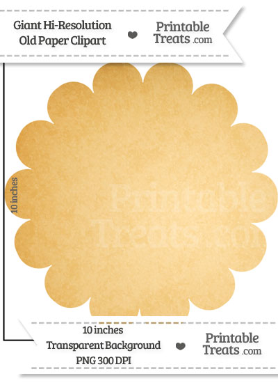 Old Paper Giant Scalloped Circle Clipart from PrintableTreats.com