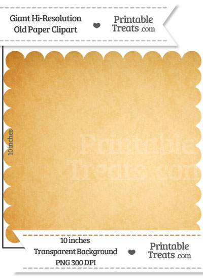 Old Paper Giant Scalloped Square Clipart from PrintableTreats.com