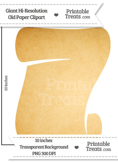 Old Paper Giant Scroll Clipart from PrintableTreats.com