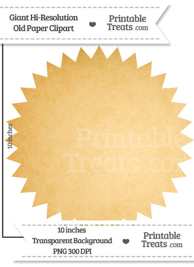 Old Paper Giant Seal Clipart from PrintableTreats.com
