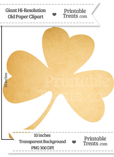 Old Paper Giant Shamrock Clipart from PrintableTreats.com