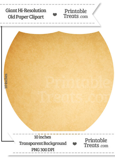 Old Paper Giant Shield Clipart from PrintableTreats.com