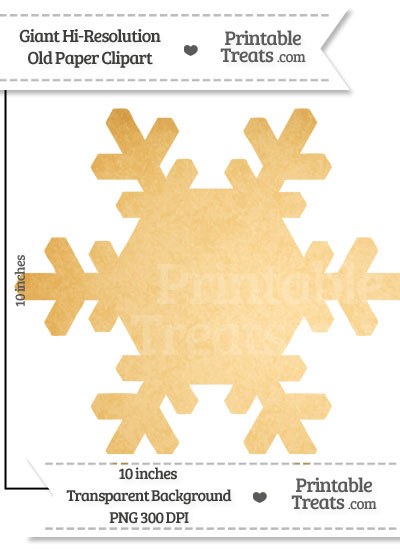 Old Paper Giant Snowflake Clipart from PrintableTreats.com