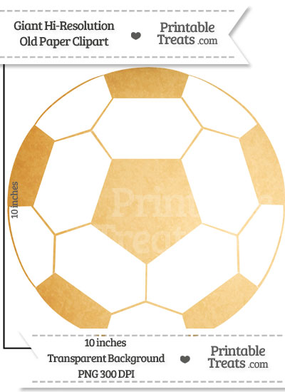 Old Paper Giant Soccer Ball Clipart from PrintableTreats.com