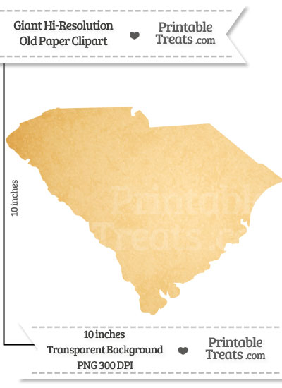 Old Paper Giant South Carolina State Clipart from PrintableTreats.com