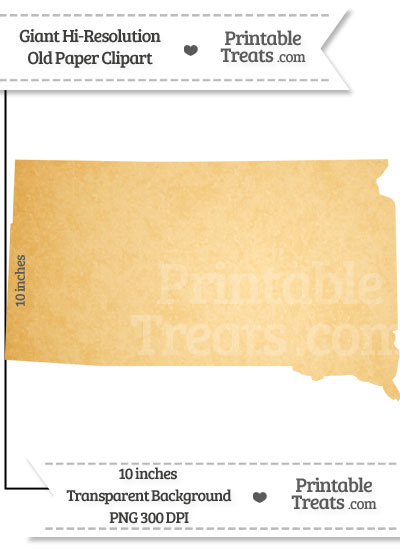 Old Paper Giant South Dakota State Clipart from PrintableTreats.com