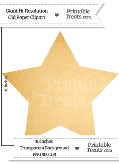 Old Paper Giant Star Clipart from PrintableTreats.com