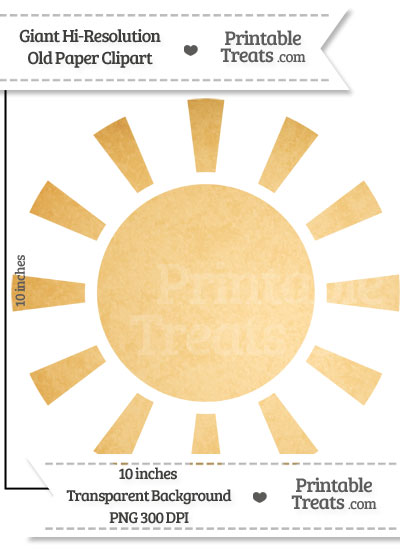 Old Paper Giant Sun Clipart from PrintableTreats.com