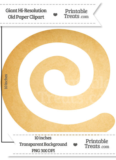 Old Paper Giant Swirl Clipart from PrintableTreats.com