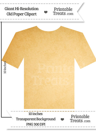 Old Paper Giant T-Shirt Clipart from PrintableTreats.com