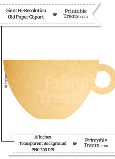 Old Paper Giant Teacup Clipart from PrintableTreats.com