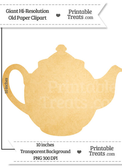 Old Paper Giant Teapot Clipart from PrintableTreats.com