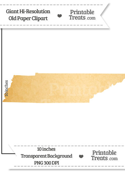 Old Paper Giant Tennessee State Clipart from PrintableTreats.com