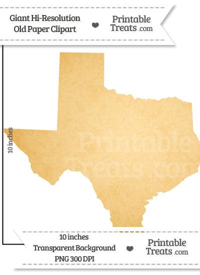Old Paper Giant Texas State Clipart from PrintableTreats.com