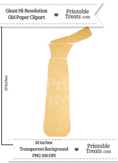 Old Paper Giant Tie Clipart from PrintableTreats.com