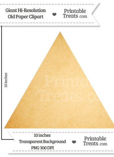 Old Paper Giant Triangle Clipart from PrintableTreats.com