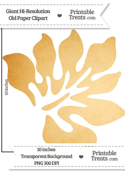 Old Paper Giant Tropical Leaf Clipart from PrintableTreats.com