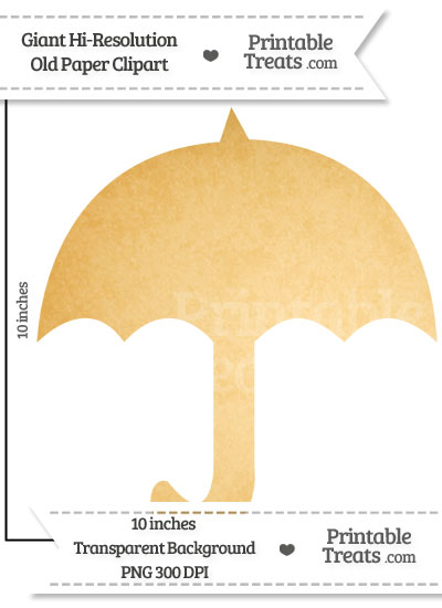 Old Paper Giant Umbrella Clipart from PrintableTreats.com