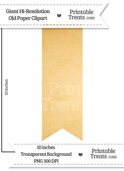 Old Paper Giant Vertical Ribbon Clipart from PrintableTreats.com