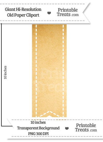 Old Paper Giant Vertical Stitched Ribbon Clipart from PrintableTreats.com