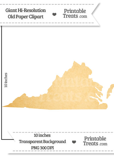 Old Paper Giant Virginia State Clipart from PrintableTreats.com