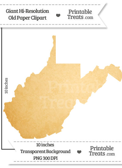 Old Paper Giant West Virginia State Clipart from PrintableTreats.com