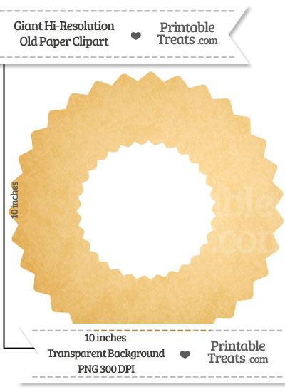 Old Paper Giant Wreath Clipart from PrintableTreats.com