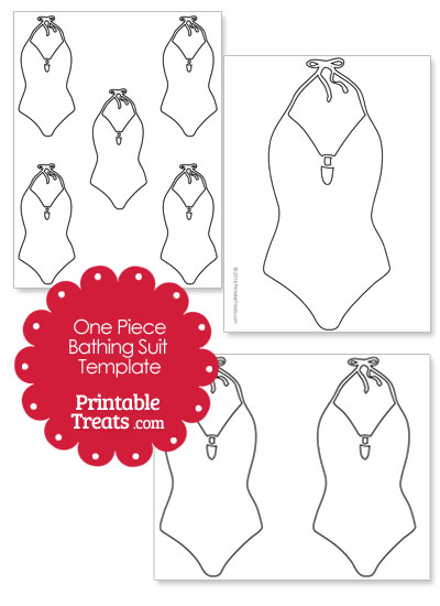 One Piece Bathing Suit Template from PrintableTreats.com