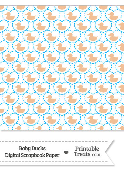 Orange Baby Ducks Digital Scrapbook Paper from PrintableTreats.com