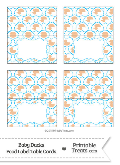 Orange Baby Ducks Food Labels from PrintableTreats.com