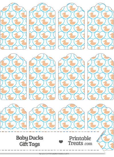 Orange Baby Ducks Gift Tags from PrintableTreats.com