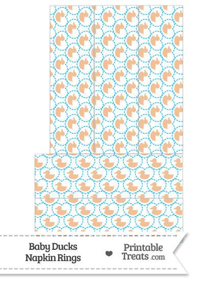 Orange Baby Ducks Napkin Rings from PrintableTreats.com