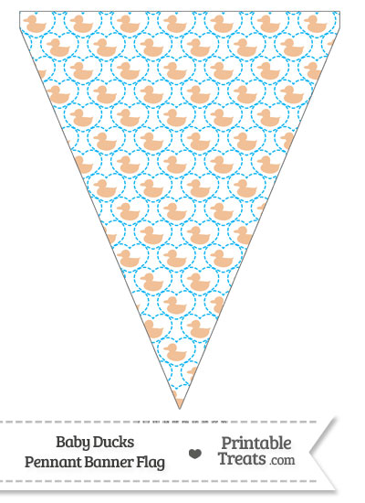 Orange Baby Ducks Pennant Banner Flag from PrintableTreats.com