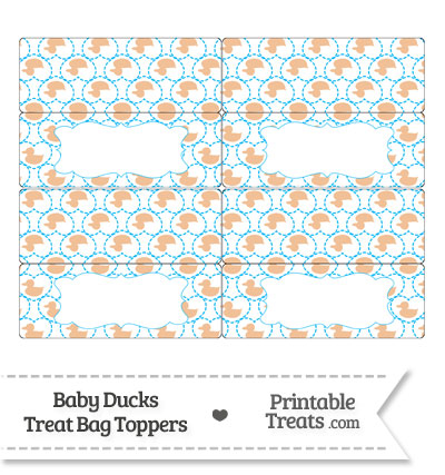 Orange Baby Ducks Treat Bag Toppers from PrintableTreats.com