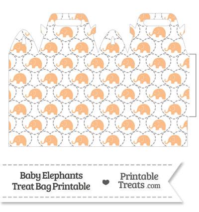Orange Baby Elephants Treat Bag from PrintableTreats.com