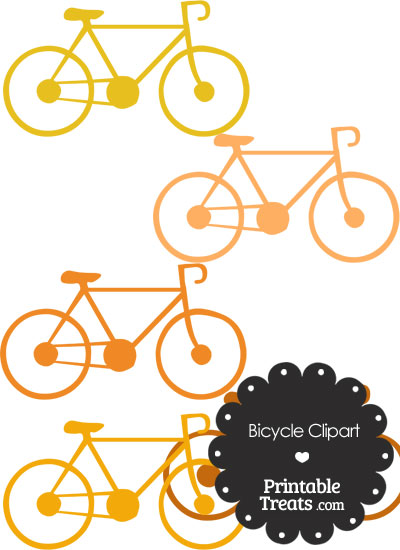 Orange Bicycle Clipart from PrintableTreats.com