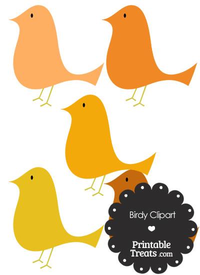 Orange Birdy Clipart from PrintableTreats.com