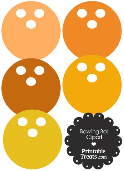 Orange Bowling Ball Clipart from PrintableTreats.com