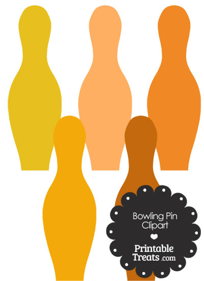 Orange Bowling Pin Clipart from PrintableTreats.com