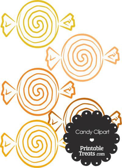 Orange Candy Clipart from PrintableTreats.com