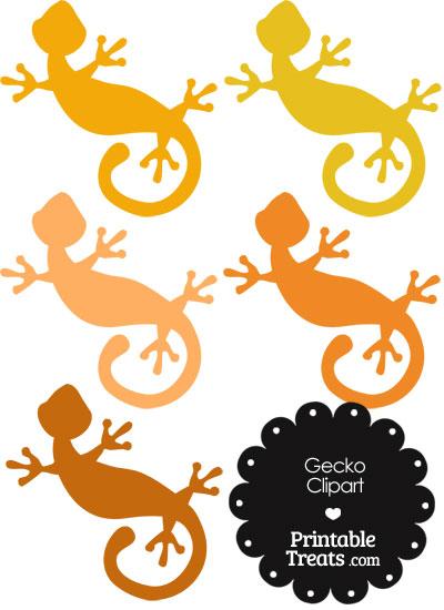 Orange Gecko Clipart from PrintableTreats.com