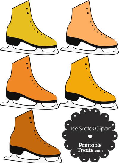 Orange Ice Skates Clipart from PrintableTreats.com