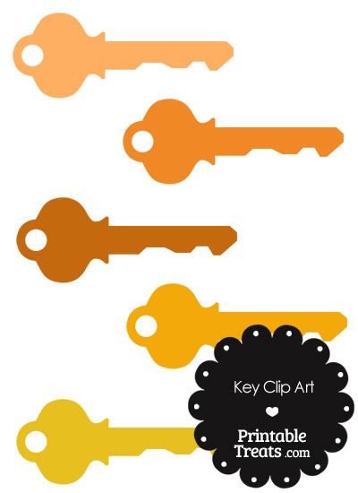 Orange Key Clipart from PrintableTreats.com